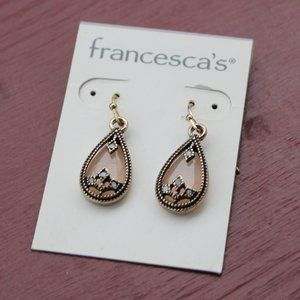 Francesca's teardrop earrings in rose gold